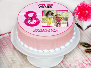 Women's day special photo cake