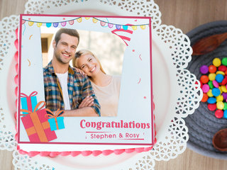 Wrapped In Love - Congratulations Photo Cake - Order Now