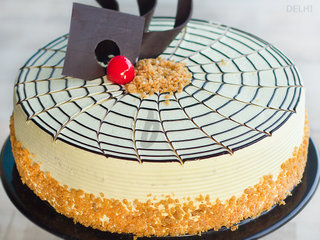 Zoomed View of Butterscotch Cake