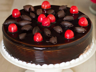 Zoomed view of German Black Forest Cake