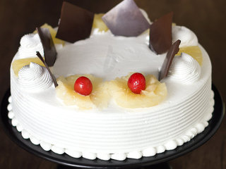 Zoomed View of Pineapple Cake