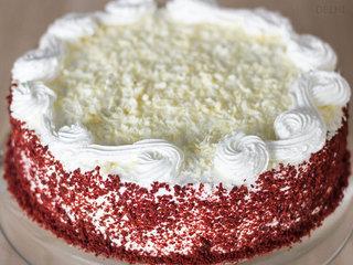 Zoomed View of Red Velvet Cake