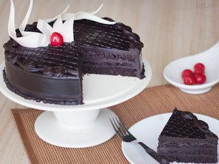 Sliced View of Choco Truffle Cake