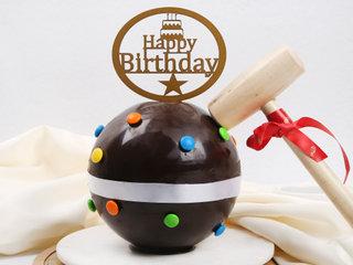 Chocolate Pinata Cake for Birthday