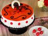 Strawberry Cake With White N Dark Chocolate