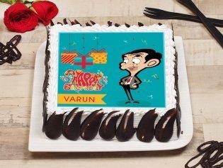 Mr Bean Poster Cake
