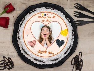 Thank You Photo Cake