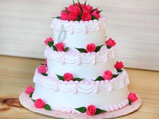 3 Tier Vanilla Party Cake