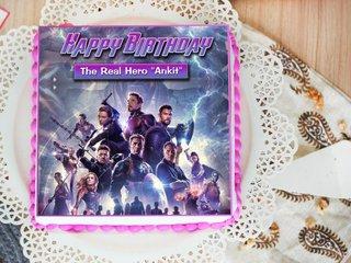 Avengers Poster Cake for Fans