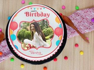 Birthday Exuberance - A Photo Cake For Birthday Celebration