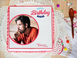 Perfect Photo Cake for birthday celebration