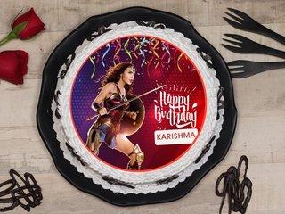 Wonder Woman Poster Cake