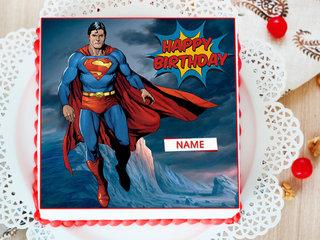 Superman Photo Cake For Boys