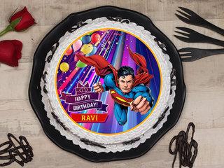 Superman Poster Cake