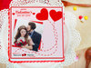 Sweet For My Sweetheart - A personalised valentine photo cake