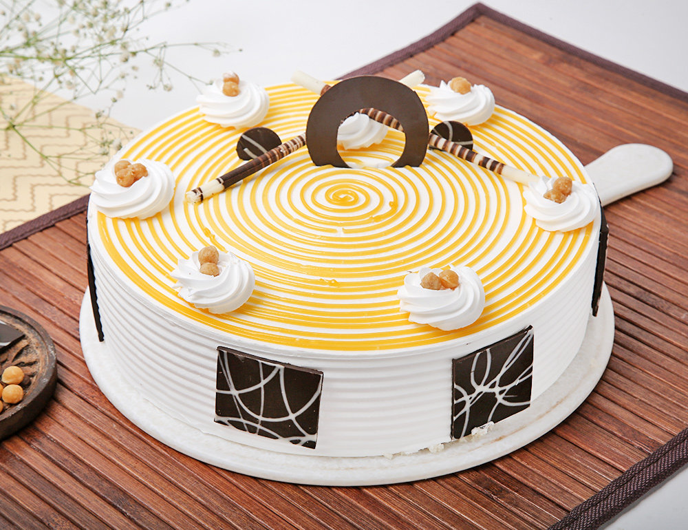 The Swirly Butterscotch Round Cake