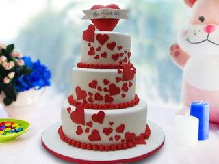 Three Tier Designer Anniversary Cake