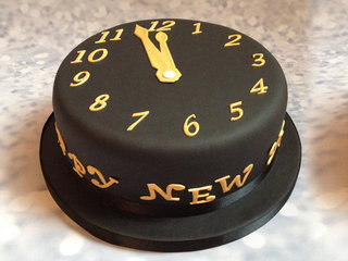 Timely Matched - Happy New Year cake