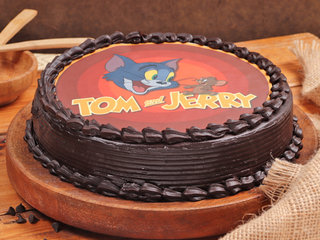 Tom And Jerry Poster Chocolate Cake