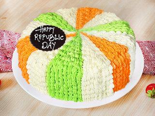 Tri Color Republic Day Cake