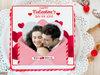 Valentine Vibes - A valentine photo cake