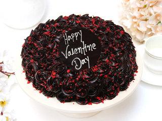 Valentines Day Choco Red Velvet Cake