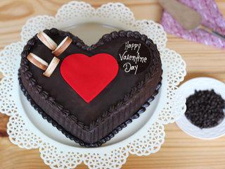 Valentines Day Choco Truffle Heart Cake