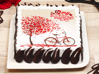 Valentines Day Poster Cake