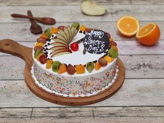 Round Shaped Vanilla Fruit Cake