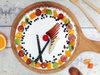 Top View of Fruit Funfetti Vanilla Cake