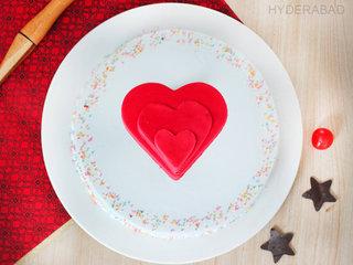 Top View of Vanilla Funfetti Cake