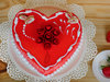 Juicy Heart Shape Strawberry Cake
