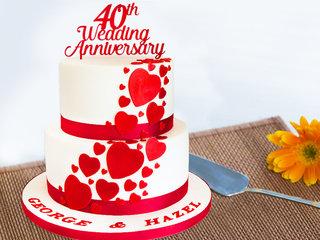 40th Anniversary Theme Cake