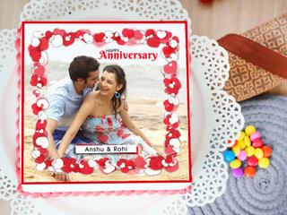 What Was Still Is - marriage anniversary photo cake