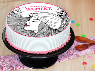 Womens Day Poster Cake